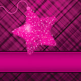 Christmas stars on purple background. EPS 8 Royalty Free Stock Images