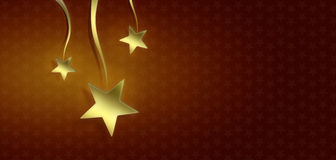 Christmas stars on red background Royalty Free Stock Image