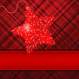 Christmas stars on red background. EPS 8 Stock Images