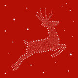 Christmas stars in reindeer shape Royalty Free Stock Photo
