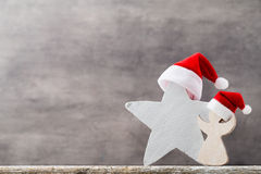Christmas stars santa hat. Christmas pattern. Background on the Royalty Free Stock Images