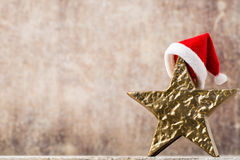 Christmas stars santa hat. Christmas pattern. Background on the Stock Images