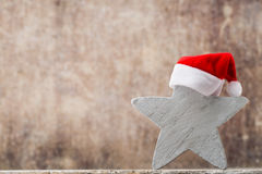 Christmas stars santa hat. Christmas pattern. Background on the Royalty Free Stock Photos