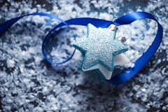 Christmas stars scene background Stock Image