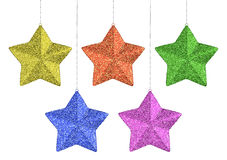Christmas stars set Royalty Free Stock Photos