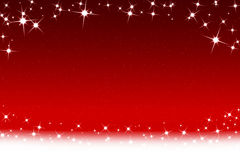 Christmas Stars And Snowflakes Red White Background Royalty Free Stock Images