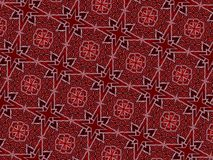 Christmas stars and swirly lines pattern royalty free stock photography