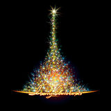 Christmas Stars Tree Stock Image