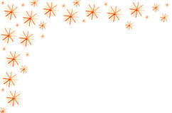 Christmas stars on white background Stock Images