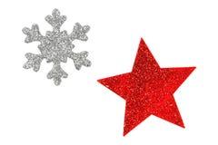 Christmas stars on white Stock Photo