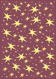 Christmas stars. Christmas winter pattern with stars Stock Images