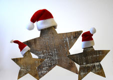 Christmas Stars With Hat Royalty Free Stock Images