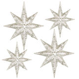 Christmas Stars03. Photo of christmas stars decoration on white background Stock Photography