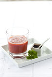 Christmas starter beet soup Royalty Free Stock Image