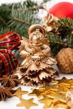 Christmas statue- gold angel Royalty Free Stock Photos