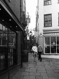Christmas Steps in Bristol in black and white Royalty Free Stock Images