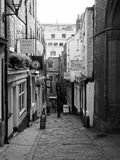 Christmas Steps in Bristol in black and white Stock Image