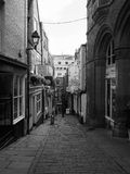 Christmas Steps in Bristol in black and white Stock Photography