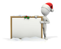 Christmas Stick Guy Blank Board Stock Image