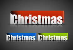 Christmas sticker. With black background, vector illustration Royalty Free Stock Photo