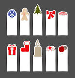 Christmas sticker concepts Stock Images