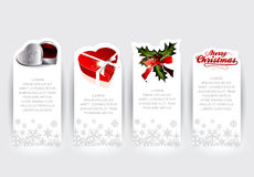 Christmas sticker concepts Royalty Free Stock Photos