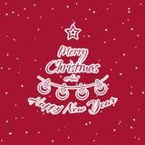 Christmas Sticker Fir Stock Photography