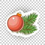 Christmas sticker icons. Vector. vector illustration