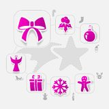 Christmas sticker infographic Royalty Free Stock Photos