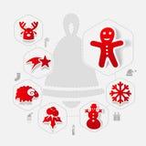 Christmas sticker infographic Stock Image