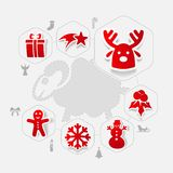 Christmas sticker infographic Stock Photography