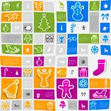 Christmas sticker infographic Royalty Free Stock Images
