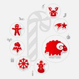 Christmas sticker infographic Royalty Free Stock Image