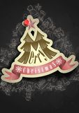 Christmas Sticker. Royalty Free Stock Photos