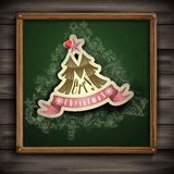 Christmas Sticker. Christmas And New Year Symbols. Vector Illustration. Eps 10 stock illustration