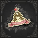 Christmas Sticker. Royalty Free Stock Photo