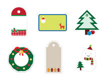 Christmas Sticker Set Royalty Free Stock Photography