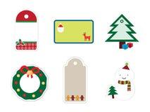 Christmas Sticker Set Royalty Free Stock Photography