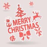 Christmas Sticker Stock Photo