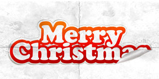 Christmas sticker. With white background, vector illustarion Stock Photography