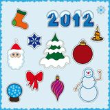 Christmas stickers Royalty Free Stock Photo