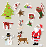 Christmas stickers Stock Photo