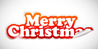 Christmas stickers design Royalty Free Stock Photography
