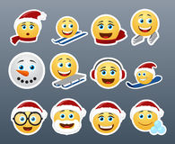 Christmas stickers Royalty Free Stock Images