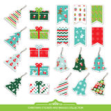 Christmas stickers and labels set. Royalty Free Stock Image