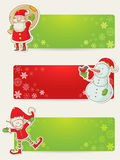 Christmas stickers with santa, elf and snowman Stock Photo
