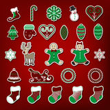 Christmas stickers set Royalty Free Stock Photo