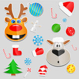 Christmas stickers Royalty Free Stock Photography