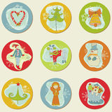 Christmas Stickes Royalty Free Stock Photography