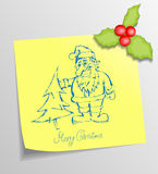 Christmas Sticky Royalty Free Stock Photo